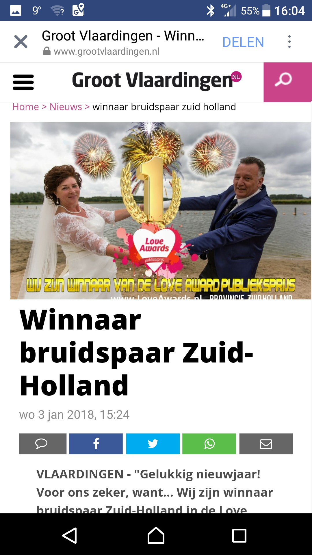 Love Awards Bruidspaar Zuid Holland Hill en Elaine West (1)