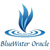 BlueWater Oracle logo with name white ba