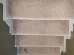 old carpet stairs