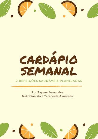Cardápio Semanal_refeições saudáveis pla