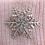 Thumbnail: Angora Blend Beanie with SnowFlake- Pink