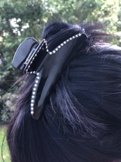 Premium Acetate supersized Hairclaw with Crystals