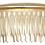 Thumbnail: Metal hair comb in matt gold