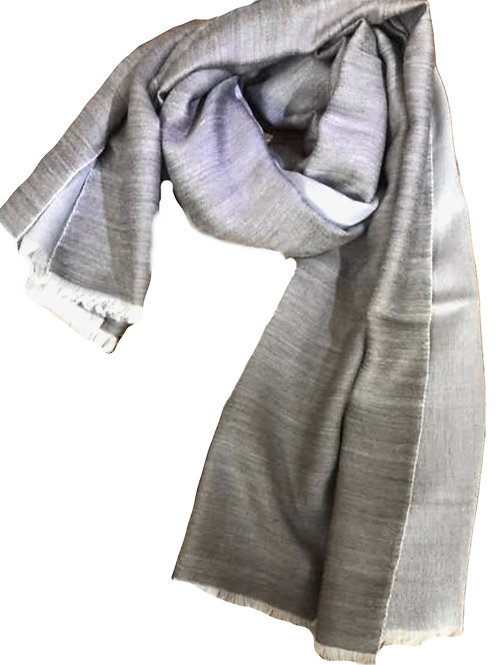 Scarf - Cashmere/ Mulberry Silk Scarf - Ultimate Grey/ Grey mist