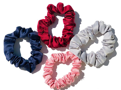 Satin Scrunchy Pack - Blush