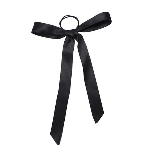 Pre- tied satin  Ribbon 2cm -Black