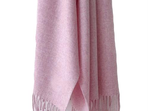 Premium Virgin 100% Wool Blanket Scarf- Sakura Pink