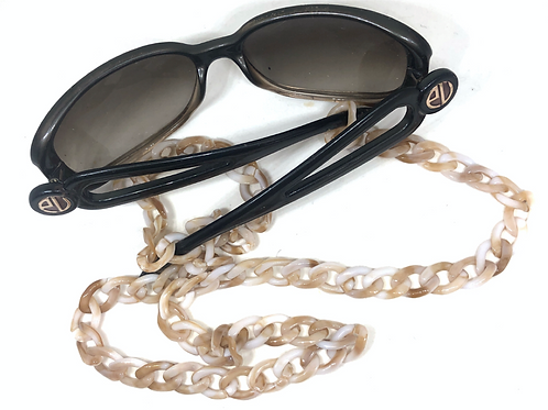 Sunglass Chain - Brown and White