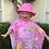 Thumbnail: Pink kids Bucket Wide Brim-  Toggle -age 2-6