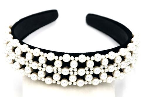 Premium Pearl & black Headband