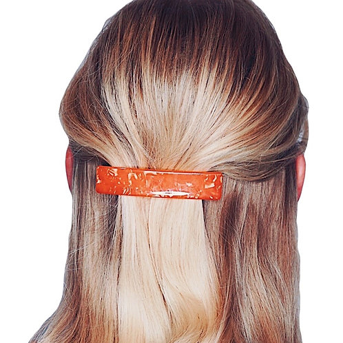Acetate Barrette - Orange