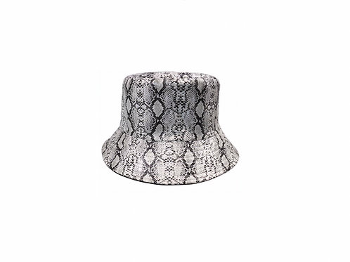 Bucket Hat- Faux Snake skin reversible