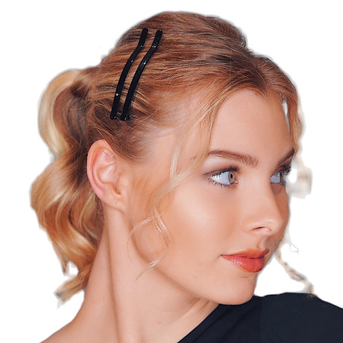 Acetate Hairpins -Black Pearl- 2pce