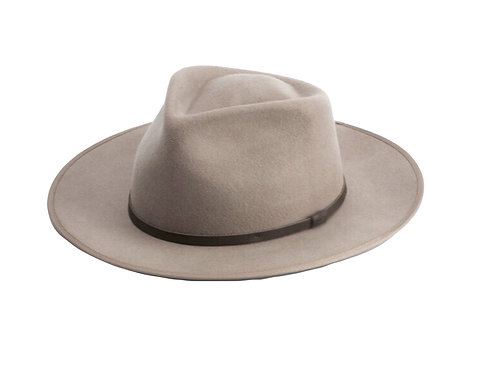 Premium 100% Australian Wool Fedora - Light Brown/Fawn