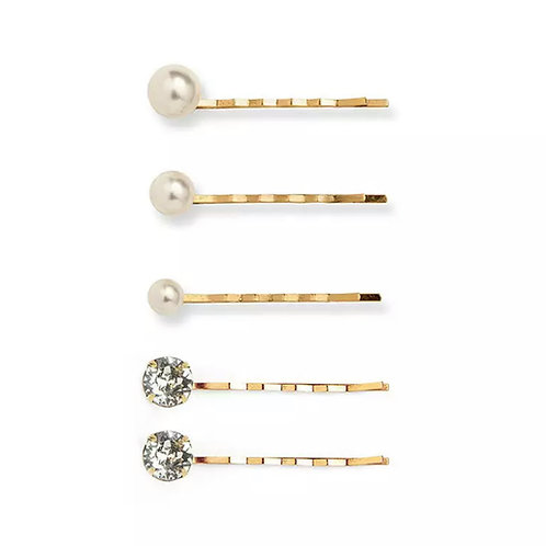 Hairpins - Pearls and Crystals