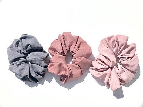 Volume Linen Scrunchy Pack in Blush