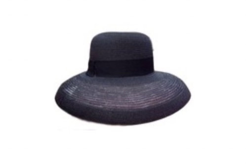 Hepburn foldable Hat- black