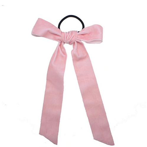 Pre- tied Velvet Ribbon 4cm - Pink