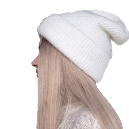 Wool Blend Slouch beanie - White