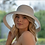 Thumbnail: Hepburn Foldable Hat - White