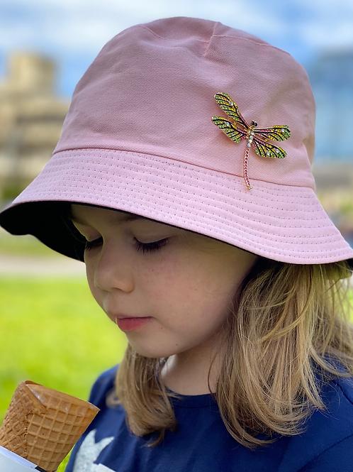 Bucket Hat - reversible- Pink/White