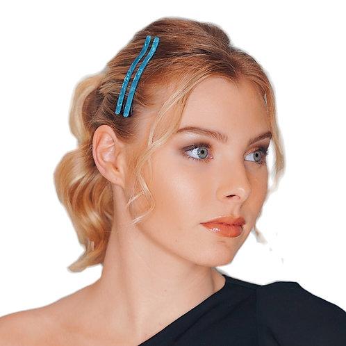 Acetate Hairpins -Blue Pearl- 2pce