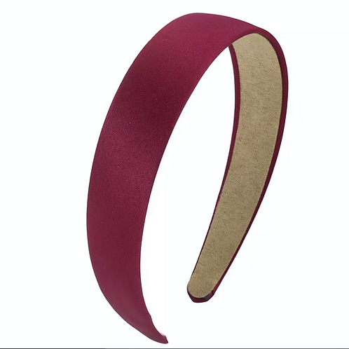Headband Satin -2.5cm Wine