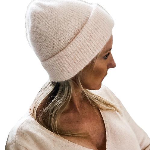 Angora Blend Slouch beanie -Pink