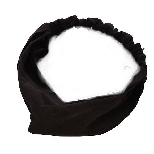 Twisted Elastic Headband- Black