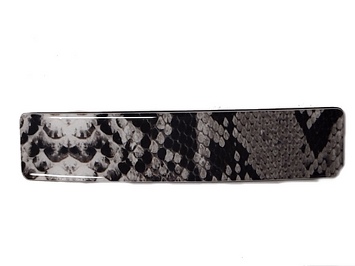 Acetate Barrette -Snake Brown
