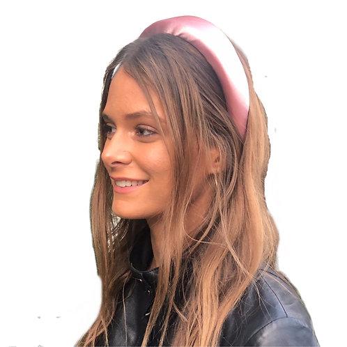 Satin Padded Headband - pink