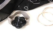 Organic Black with rhinestone crystal
