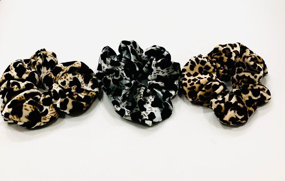 Volume Velvet Leopard Scrunchy Pack