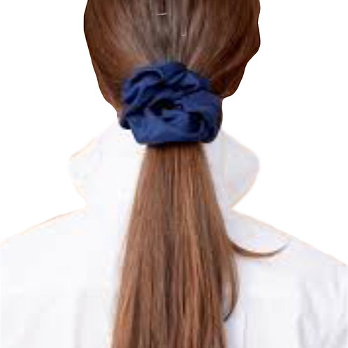 100% Silk Volume Scrunchie in Navy