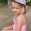 Thumbnail: Flower Bucket Wide Brim  & Toggle -age 2-6