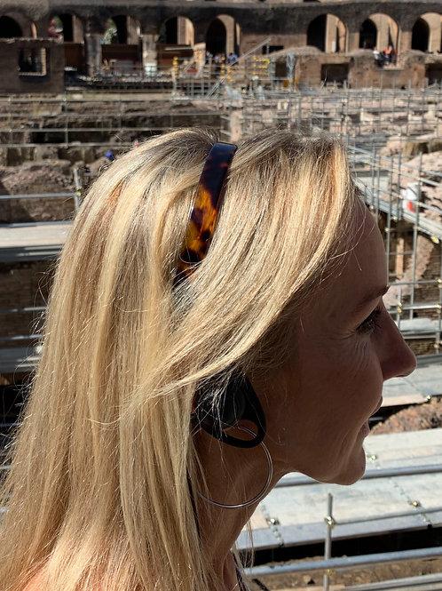 Premium Acetate Headband - 1.5cm - Dark Tortoise