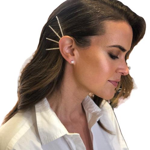 Classic Rhinestone Hairpins x 4