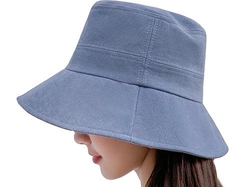 Bucket Hat extended Brim-  Lake Blue