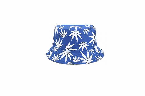 Bucket Hat - reversible- Blue Palm/Black