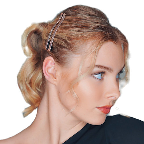 Acetate Hairpins -pink/nude Pearl- 2pce