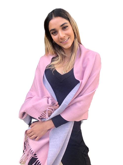 Scarf Two Tone - Pink/Grey