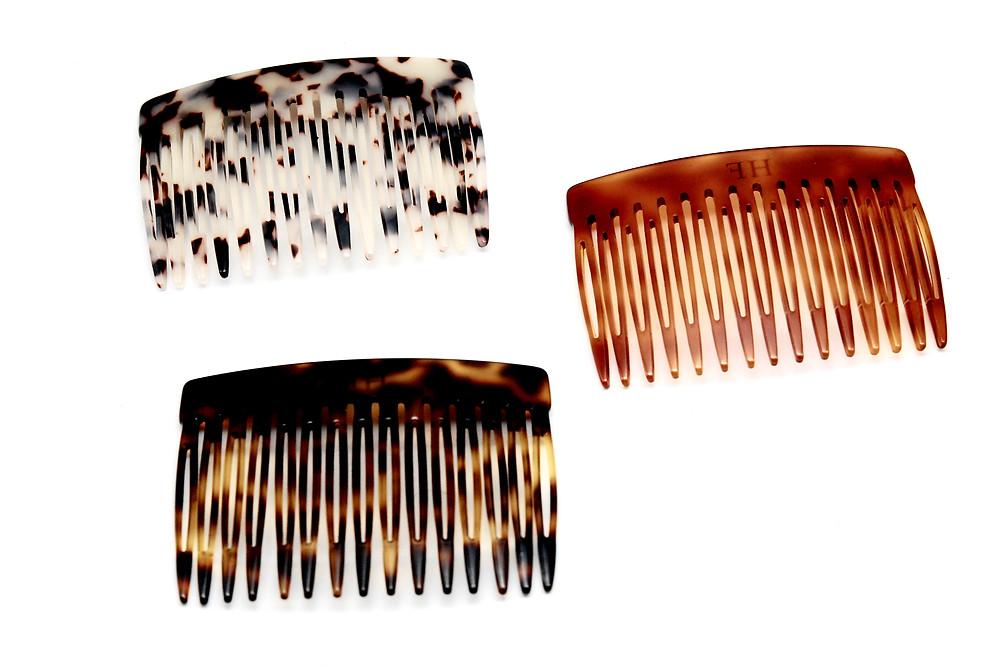 Acetate hair combs