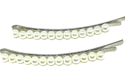 Pearl Bobbies - silver