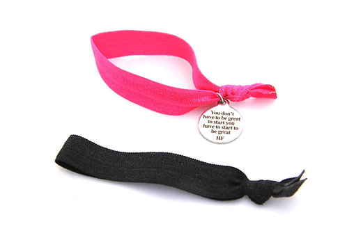 Charm Tie- You don't have to be great to start you have to start to be great