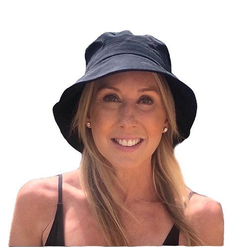 Bucket Hat extended Brim-  Plain Black