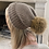 Thumbnail: 70 % Angora Beanie  - Camel & Luxe Pom Pom