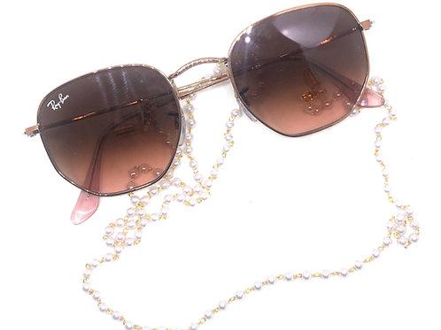 Sunglasses Chain Pearl - gold