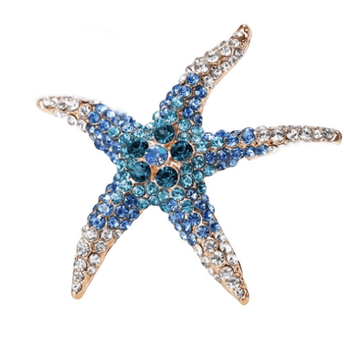 Brooch Starfish Blue