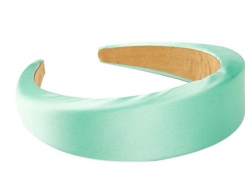 Satin Padded Headband -icegreen