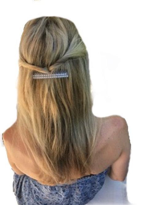 Premium transparent acetate hair comb with crystals